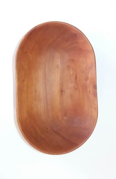 Fuente ovalada en madera de rauli hualle